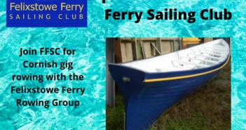 Rowing at Felixstowe Ferry Sailing Club